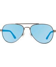 Revo Re1011話し上手のガンメタル - 青い水偏光サングラス