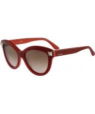Valentino レディースv695s英語赤いサングラス