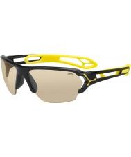 Cebe S-トラック大きな光沢のある黒のサングラス