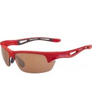 Bolle ボルトの光沢のある赤色の変調器v3のゴルフサングラス