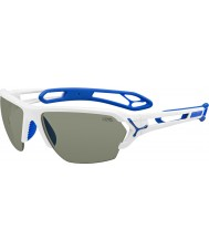 Cebe S-トラック大きな光沢のある白いサングラス