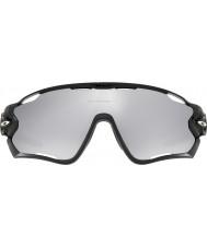Oakley Oo9290-19早口言葉研磨黒 - クロームイリジウム通気サングラス