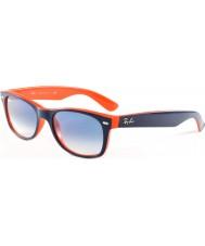 RayBan Rb2132 52新ウェイファーラーのトップブルー - オレンジ789-3fサングラス