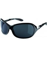 Bolle グレース光沢のある黒いTNSサングラス