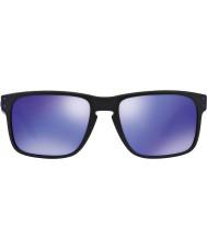 Oakley Oo9102-26ホルブルックジュリアン・ウィルソンのマットブラック - バイオレットイリジウムサングラス