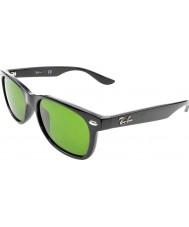 RayBan Junior 47新しい旅人光沢のある黒い100-2サングラスをRj9052s