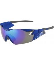 Bolle 第六感のマットネイビー青紫色のサングラス