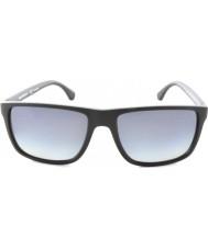 Emporio Armani Ea4033 56近代的な黒灰色のゴム5229t3偏光サングラス