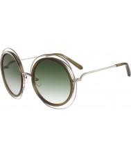Chloe レディースce120sカリーナゴールドカーキ色のサングラス