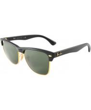 RayBan Rb4175 57 CLUBMASTER特大のデミ光沢のある黒、金877サングラス