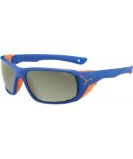 Cebe Jorasses大きなマットブルーオレンジvariochromピークフラッシュミラーサングラス