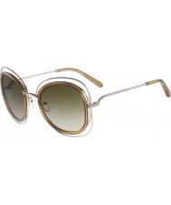 Chloe レディースce123sカリーナ光沢のあるゴールドのサングラス