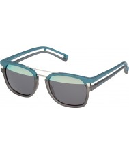Police メンズは、JR 1 s1948-nv8h透明グレーのマットターコイズサングラスをネイマール・ダ・シウバ・サントス・ジュニオール