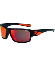 Cebe ウィスパーマットブラック、オレンジ色のサングラス
