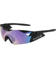 Bolle 第六感のマットブラック青紫色のサングラス