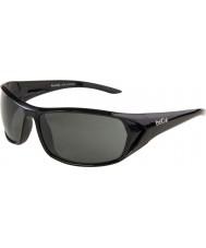 Bolle ブラックテイル光沢のある黒の偏TNSサングラス