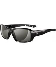 Cebe S-キス光沢のある黒のサングラス