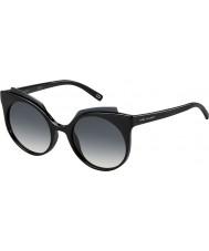 Marc Jacobs レディースは、105-SのD28の90光沢のある黒いサングラスをMARC