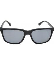 Emporio Armani Ea4047 56現代の黒いゴム506381偏光サングラス