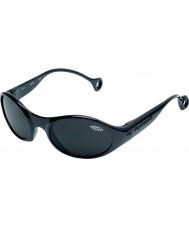 Cebe 1977(年齢3-5)光沢のある光沢のある黒2000グレーサングラス