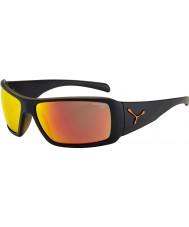 Cebe Utopyマットブラック、オレンジ色のサングラス