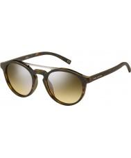 Marc Jacobs マルク107-sのn9p GGマットハバナシルバーミラーサングラス