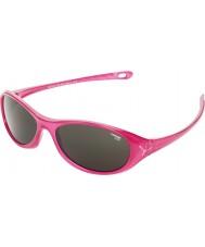Cebe ヤモリ(年齢5-7)光沢のあるピンクの半透明2000グレーサングラス