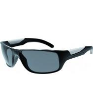 Bolle 光沢のある黒いTNSサングラスをバイブ