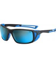 Cebe Proguideマットブラックブルー4000グレーミネラルブルーサングラス