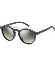 Marc Jacobs マルク107-SのDRD GY濃いグレーシルバーミラーサングラス