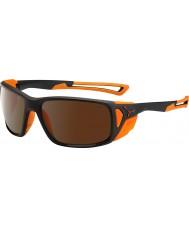 Cebe Proguideマットブラックオレンジ2000ブラウンフラッシュミラーサングラス