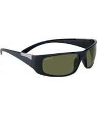 Serengeti ファザーノ光沢のあるサテンブラックの偏博士555nmサングラス
