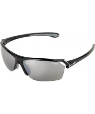 Cebe 野生の光沢のある黒のサングラス