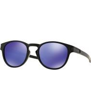 Oakley Oo9265-06ラッチマットブラック - バイオレットイリジウムサングラス