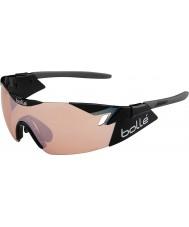 Bolle 第六感光沢のある黒の変調器は、銃のサングラスをバラ