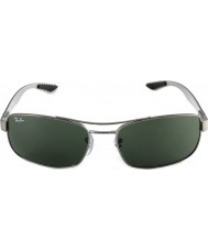 RayBan Rb8316 62ハイテク炭素繊維砲金緑004サングラス