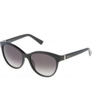 Nina Ricci レディースsnr003-700光沢のある黒のサングラス