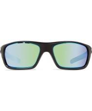 Revo Re4073ガイドII光沢のある黒 - 緑水偏光サングラス