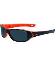 Cebe S-picy(年齢7-10)マットブラック、オレンジ色のサングラス
