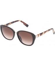 Furla レディース大学su4905r-0d84光沢のある完全な茶色のサングラス