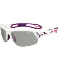 Cebe S-トラックメディア白紫variochromのperfoサングラス