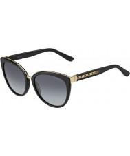 Jimmy Choo レディースダナ-S 10eのHDの黒のサングラス