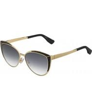 Jimmy Choo レディースドミ-S PSU 9cの金黒のサングラス