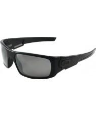 Oakley 黒Oo9239-06クランクシャフトマット - ブラックイリジウム偏光サングラス
