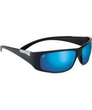 Serengeti ファザーノ光沢のある黒の偏博士課程の555nmブルーミラーサングラス