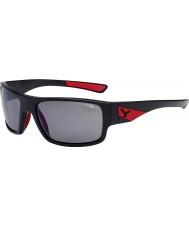 Cebe ウィスパーマットブラック赤1500グレーの偏フラッシュミラーサングラス