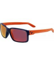 Cebe デュード光沢のある青、オレンジ色のサングラス