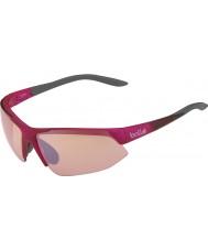 Bolle ブレイクアウェイ光沢のあるピンクの灰色の変調器は、銃のサングラスをバラ