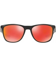 Oakley Oo9340-02 trillbe X磨か黒 - ルビーイリジウムサングラス