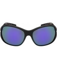Bolle ソルデン光沢のある黒青紫色のサングラス